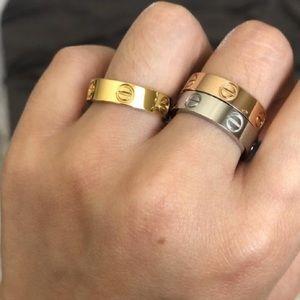 Gold love ring